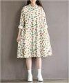 Maternity dress весна осень turn down ошейник с длинным рукавом хлопок мультфильм повседневная печатных dress беременных одежда свободную одежду