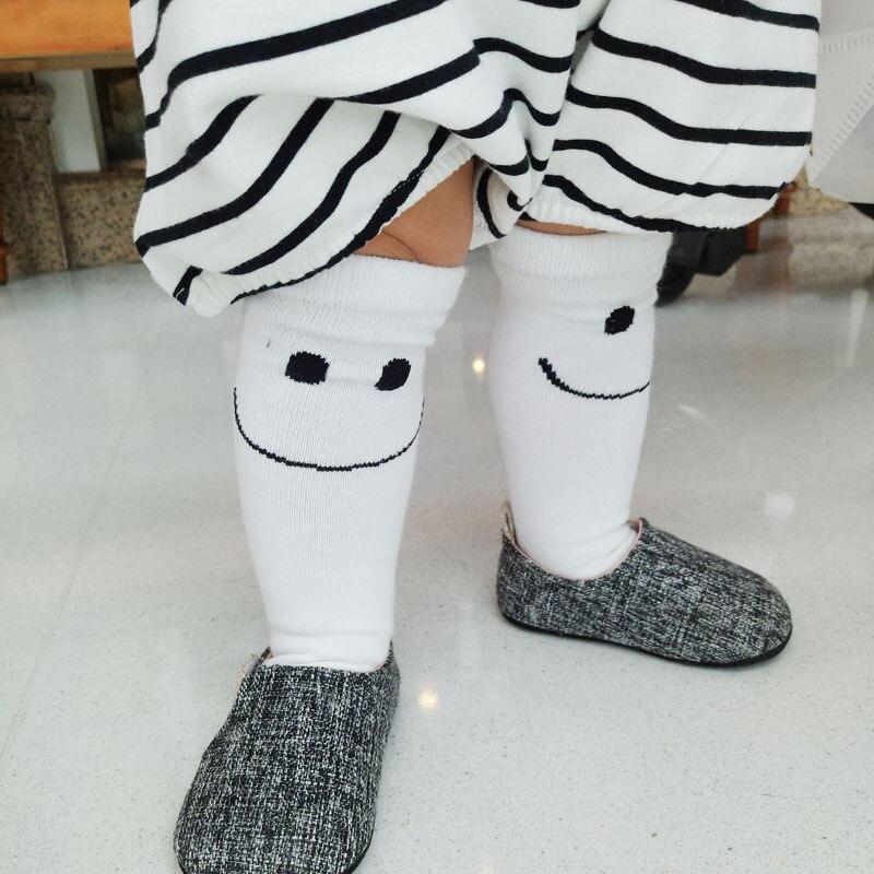 1 5years Kids Girl Boy Smile Pattern Socks Knee High Sock