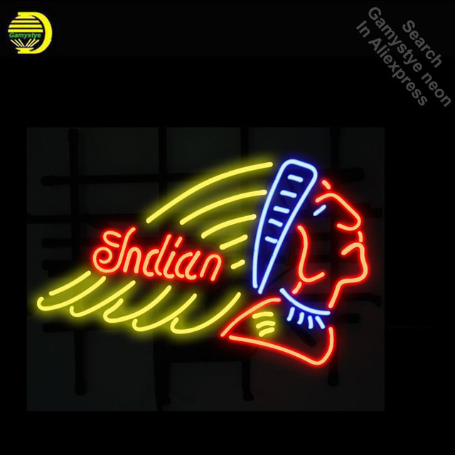 India Motorcycle Neon Sign Handcrafted Neon Bulbs Unique Real Glass Tube Iconic Decorate Room Lamp light signs Dropshipping