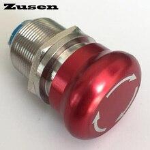 Zusen 22mm מתכת חירום מתג לדחוף כפתור מתג ZS22 11T/S
