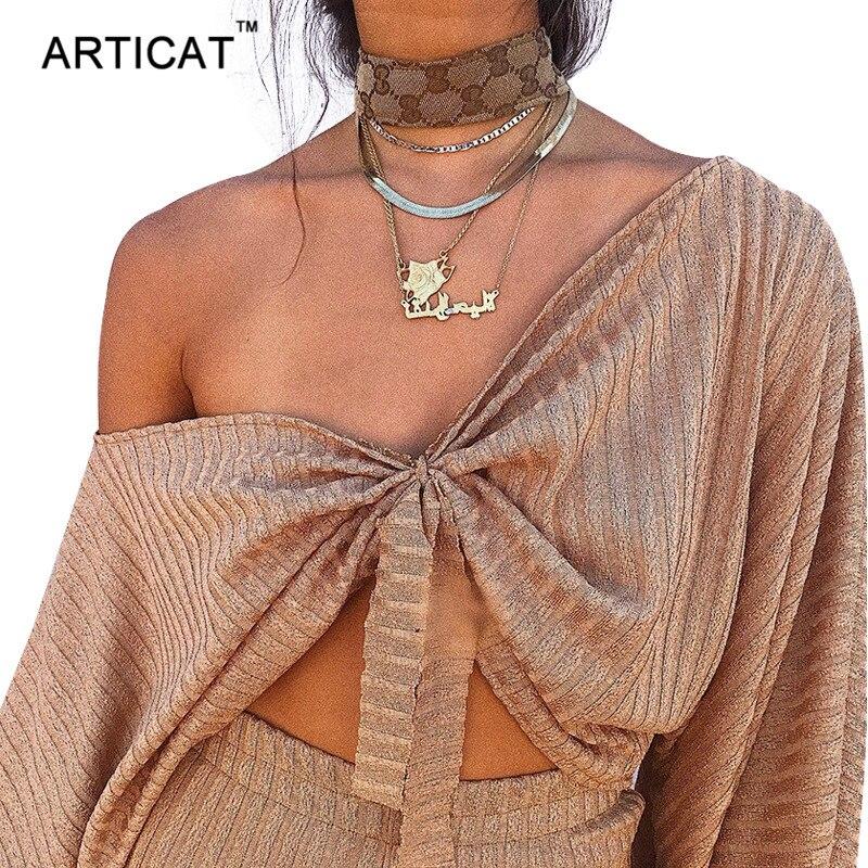 Articat Sexy Off Shoulder T shirt Women Crop Top V Neck Lantern Sleeve Loose Shirt Women Tops Streetwear Cotton T-shirt Top Tees drop shoulder crop fishnet hooded t shirt