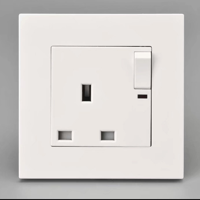 Uk Standard Wall Socket With Switch 13a 250v Panel
