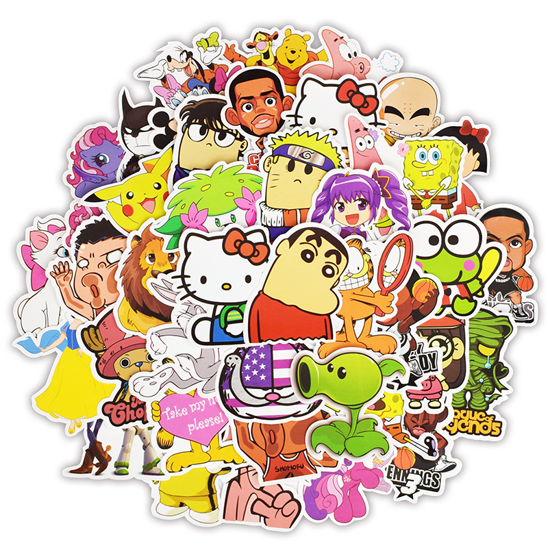 50pcs Cartoon Character Sticker Classic Anime Mixed Childrens Stickers for Kid DIY Laptop Luggage Bike Fridge Guitar Car Sticker50pcs Cartoon Character Sticker Classic Anime Mixed Childrens Stickers for Kid DIY Laptop Luggage Bike Fridge Guitar Car Sticker