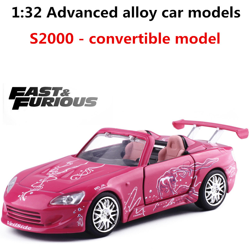 Toys & Hobbies Jada 1:32 Scale Honda S2000 Alloy Sliding Car Toys Diecast Metal Model Toy Vehicles Collection Model Toy Car Free Shipping