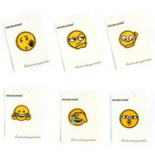 Joys And Sorrows Emoticons Card Specification Patch Embroidered Iron On Patches Cloth Coat Bag Shoes DIY Accessories