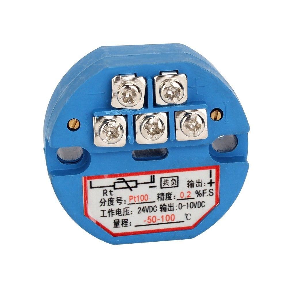 Best price RTD PT100 Temperature Transmitter DC24V Minus