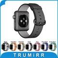 Cinta de nylon + adaptadores original para apple watch esporte iwatch edição 38mm 42mm Pulseira Perlon Banda Correia de Pulso Pulseira 7 cor