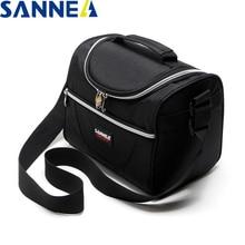 SANNE 5L الحرارية الغداء حقيبة حقيبة مبرد مقاوم للماء معزول علب الاغذية الحرارية الغداء حقيبة للأطفال حقيبة تخييم بسيطة وأنيقة