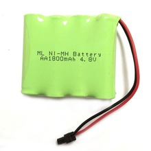 Brand New 4.8V 1800mAh 4x AA Ni-MH RC Rechargeable Battery Pack for Helicopter Robot Car Toys with Small Plug