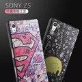 De seda pintado patrón suave silicona case para sony xperia z5 e6653 5.2for sony xperia z5 teléfono celular de la contraportada case