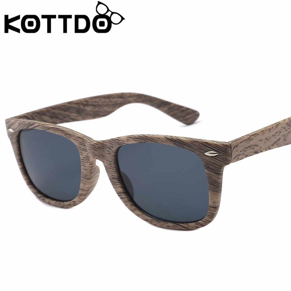571542f3cc ... KOTTDO 2018 Fashion Vintage Okulary Men s Wood Grain Sunglasses Glasses  Frame Women Retro Eyeglasses Eyewear Oculos ...