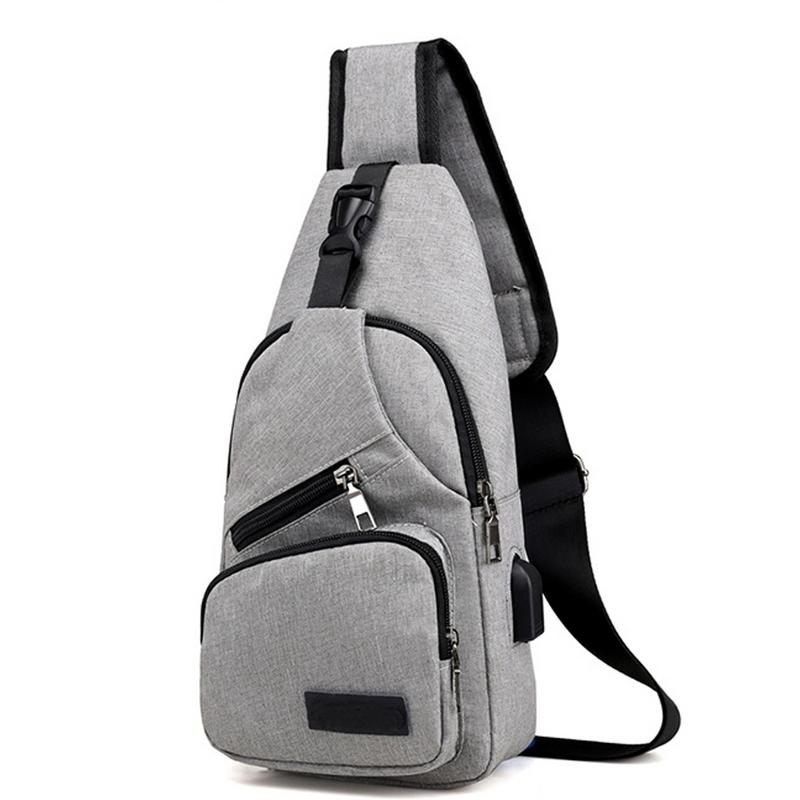 New Style Oxford Cloth UBS Charging Chest Bags Fashionable Simple Shoulder Messenger Crossbody Shoulder Sports Chest Bag For MenNew Style Oxford Cloth UBS Charging Chest Bags Fashionable Simple Shoulder Messenger Crossbody Shoulder Sports Chest Bag For Men
