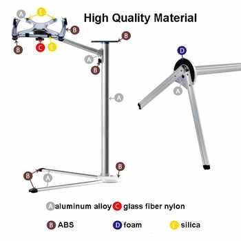 を最大-7高さ調節可能なラップトップフロアスタンドアルミ合金怠惰な人々ベッド回転ホルダー付きマウストレイ用のmacbook 10-17インチ