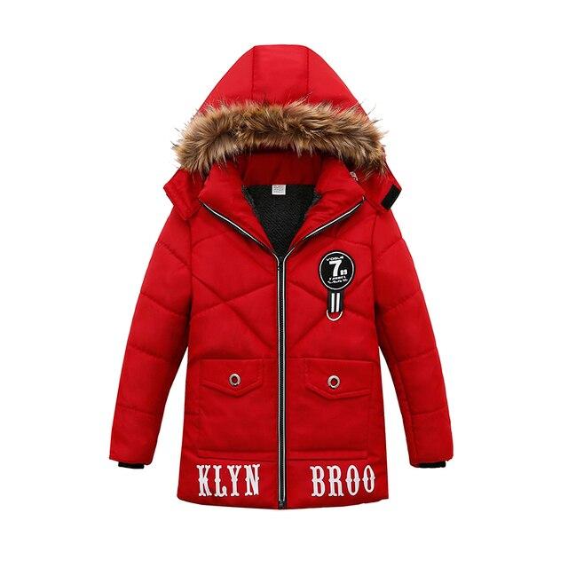 2018 зимняя куртка и пальто для маленьких мальчиков, теплое пальто с капюшоном и верхняя одежда с надписями, длинная куртка для мальчиков, детская одежда, детская одежда