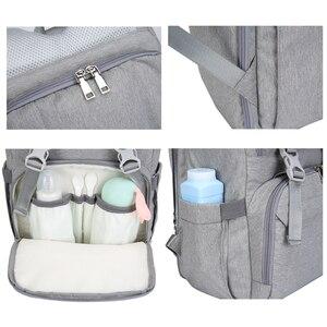 Image 5 - Nass Usb Mumie Mutterschaft Baby Windel Tasche Taschen Rucksack Organizer Für Mumie Mutter Mutterschaft Baby Taschen Für Mama Kinderwagen Windel tasche