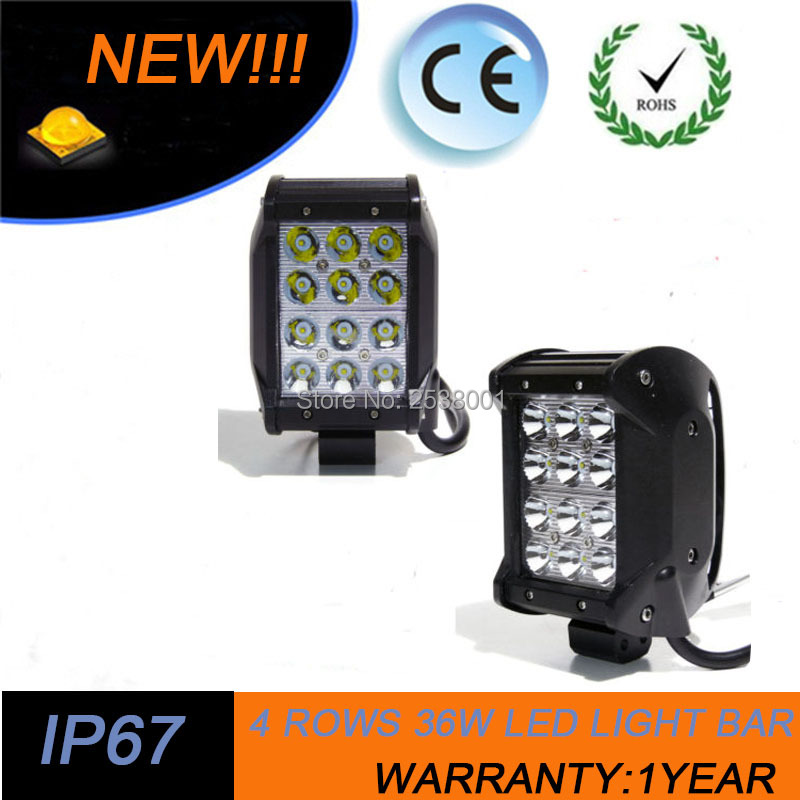 ФОТО 2PCS 7INCH 36W ULTRA SPOT LED WORK LIGHT BAR OFFROAD UTE BOAT ATV 4X4WD SPOT