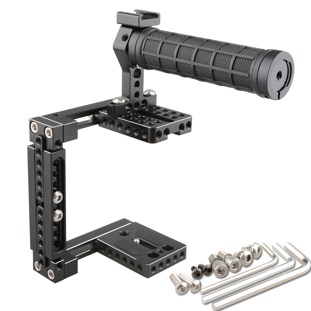 цены  CAMVATE Dual-use Adjustable Cage with Top Handle (Rubber)