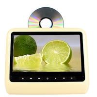 9 inch TFT LED Scherm Hoofdsteun monitor Car Dvd-speler & Game DVD USB SD IR Zender Draagbare Hoofdsteun Monitor SH9808DVD Beige