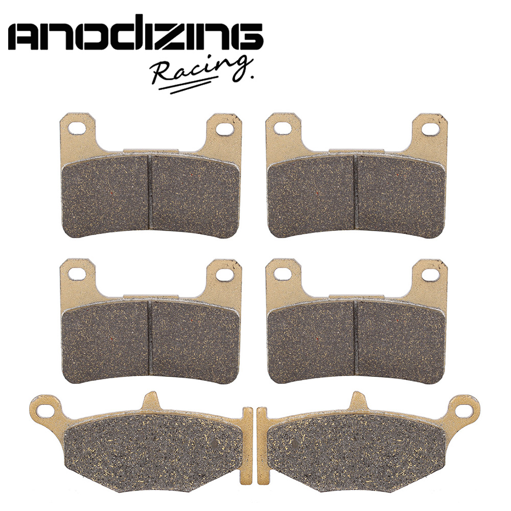 Motorcycle Front and Rear Brake Pads For SUZUKI GSXR600/750 GSX-R 2006-2010 motorcycle front and rear brake pads for suzuki gsx 750 gsx750 f katana 1998 2006 black brake disc pad