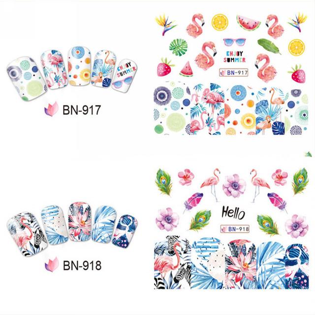12 Design/Sheet Nail Art Water Decal Stickers