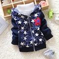 Frete grátis Outono e Inverno Do Bebê pentagrama meninos grossas hoodies, crianças moda hoodies jaqueta grossa # Z771