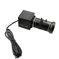 Global Shutter High Speed 120fps CS Mount Varifocal 5 50mm UVC Plug Play Driverless USB Camera with Mini Case