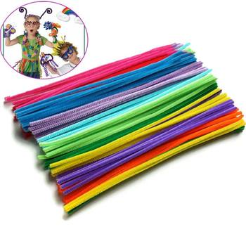 100PCS Chenille Stems Colorful Sticks Kids Toy Kindergarten DIY Handcraft Material Creative Kids Educational Toys 88 BM8 1