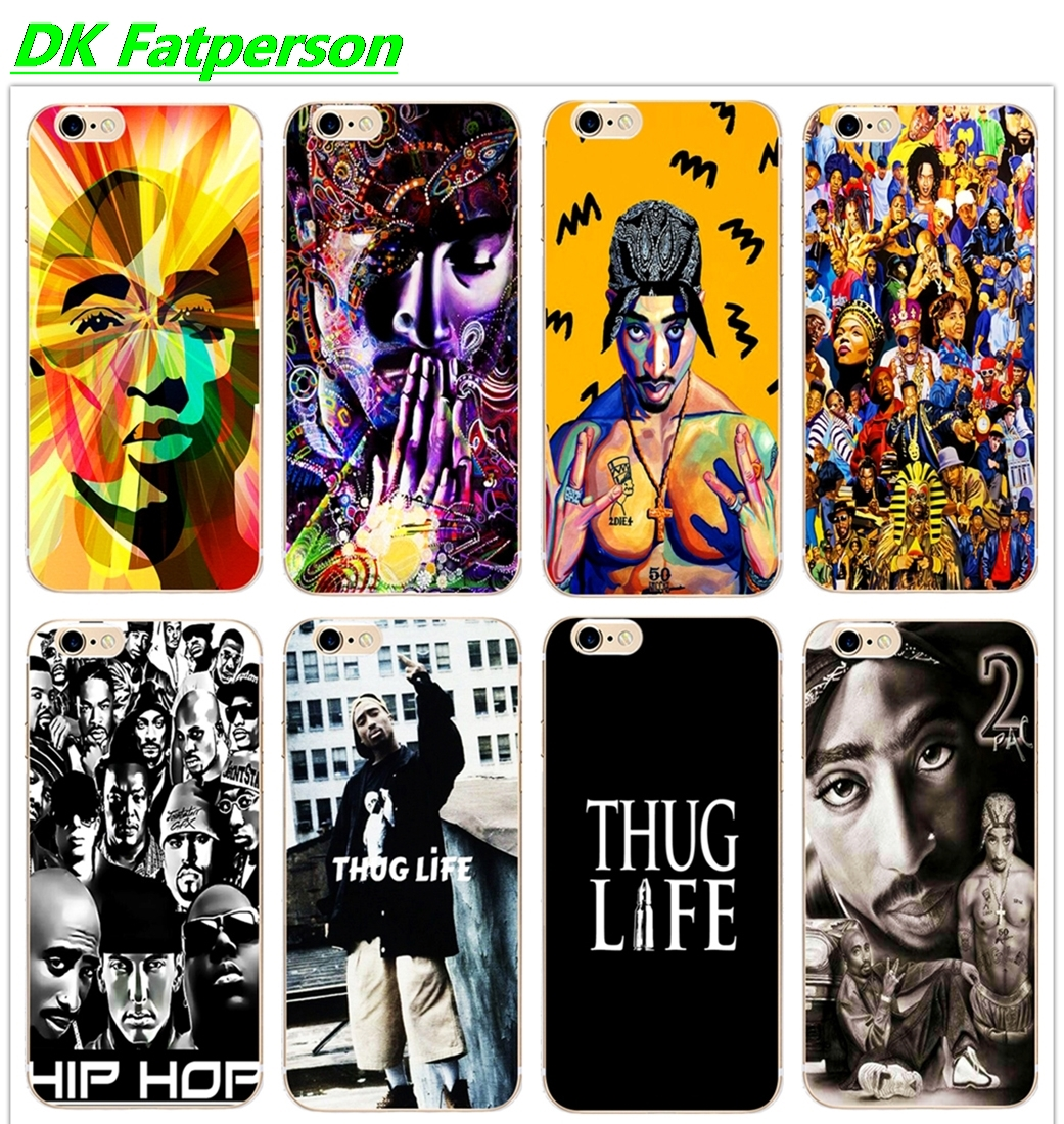 DK THUG LIFE 2Pac Tupac Newest Fashion phone case Cover Hard Transparent for iphone 11Pro MAX 6 6s 7 8plus 5s 5 4s X XS XR XSMax