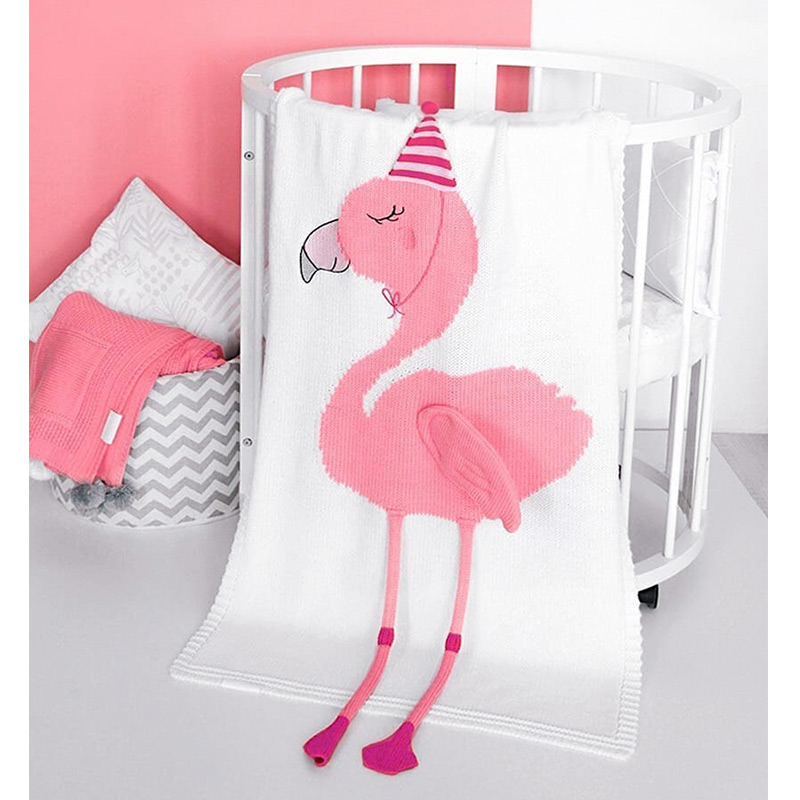 Muslinlife Europe Fashion Style Baby Blanket Flamingo Printed Super Soft Blanket Kids INS Cuddle Blanket Wrap super soft flannel dense forest blanket