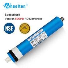 Nueva membrana de Vontron 50 gpd RO para purificador de filtro de agua de 5 etapas, tratamiento de ósmosis inversa, sistema certificado por NSF/ANSI, envío gratuito