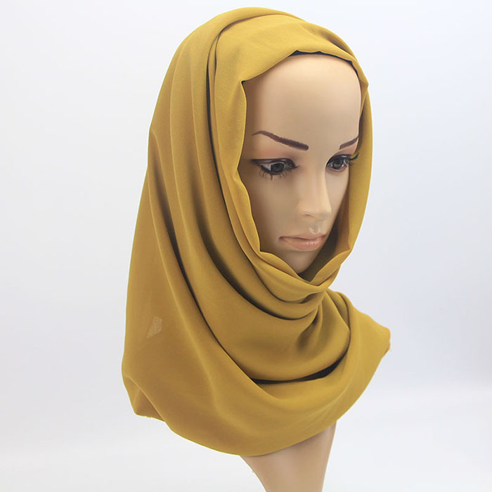 women plain bubble chiffon scarf hijab wrap printe solid color shawls headband muslim hijabs scarves/scarf 60 colors