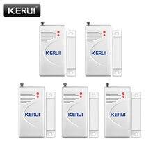 KERUI نافذة الباب اللاسلكية لص إنذار مع جهاز استشعار باب مغناطيسي سلامة المنزل نظام إنذار لا سلكي الأمن جهاز أبيض