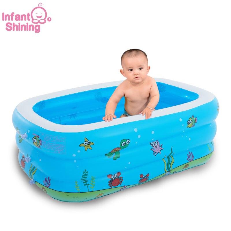Piscine bébé gonflable bain de bain jouets été grandes 7-9 personnes piscines écologique PVC Portable