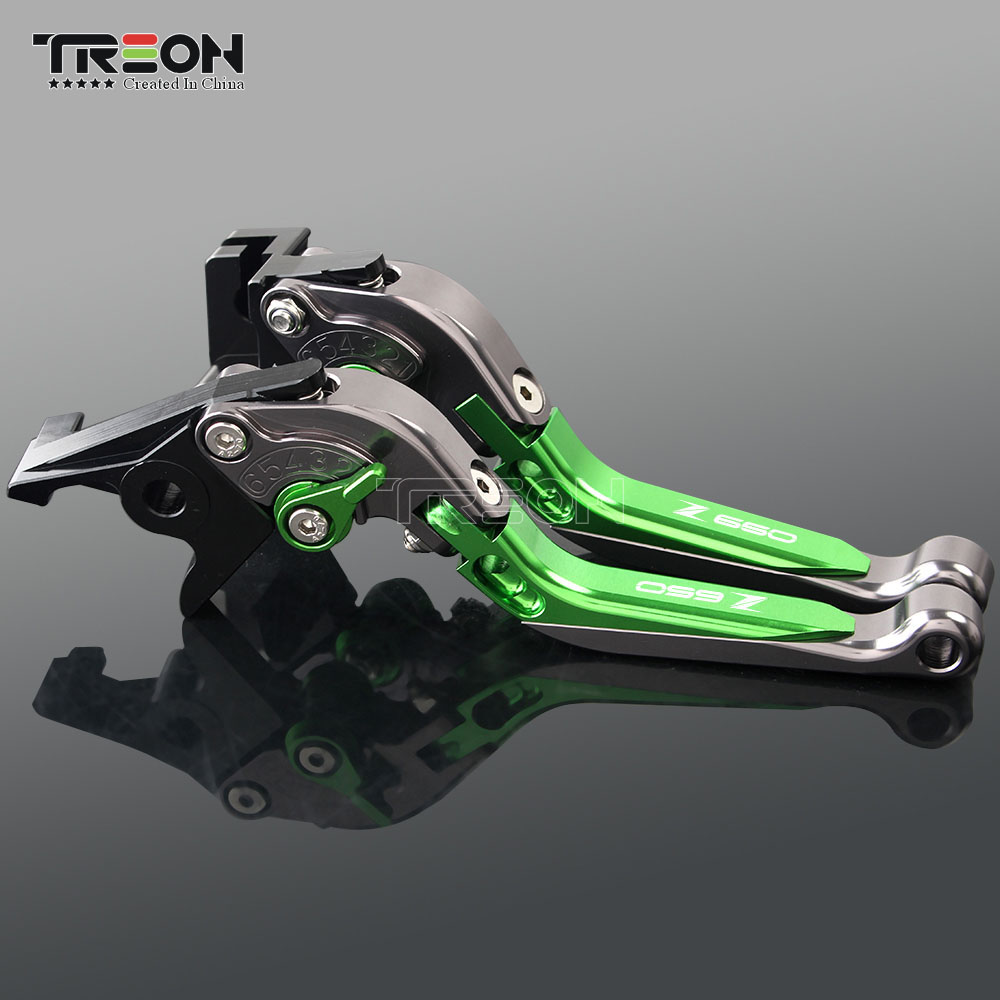 Image 5 - CNC Aluminum Motorcycle Frame Ornamental Extendable Brake Clutch Lever Handle For Kawasaki Z650 Z 650 2017 2018 2019 Accessories-in Covers & Ornamental Mouldings from Automobiles & Motorcycles