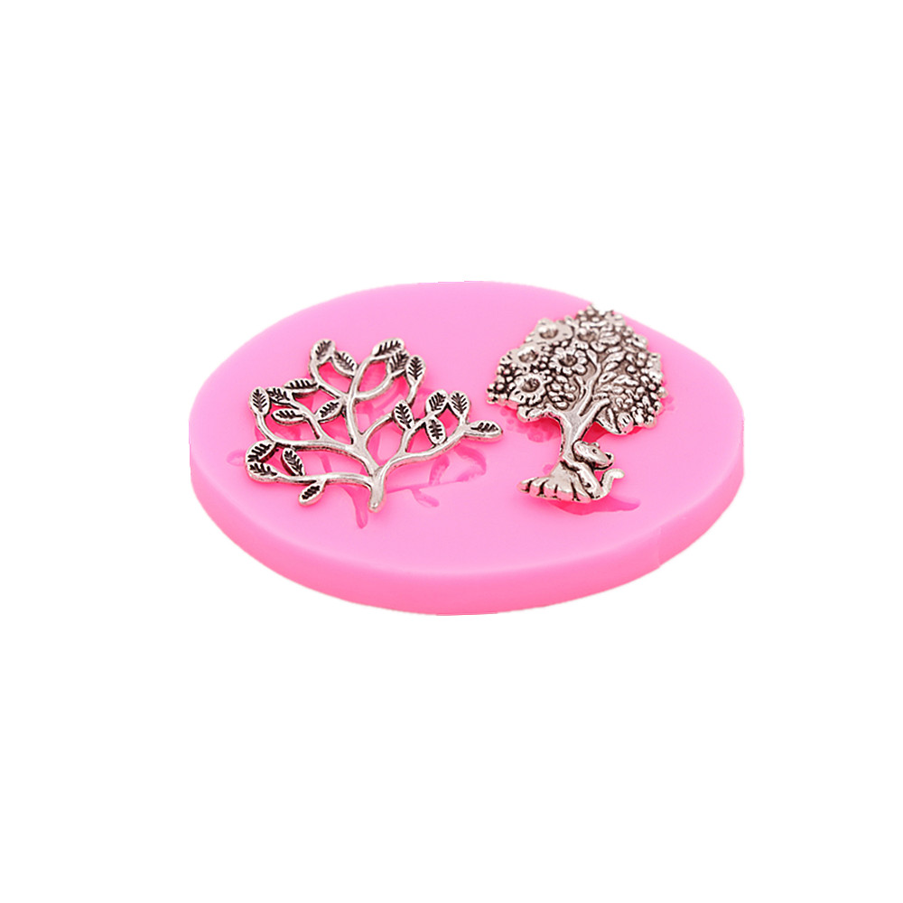 Trees Frozen Cakes Silicone Molds Handmade Chocolate Crafts Molds Cakes Desserts Decorative Molds DIY Bakery Baking Tools new in Cake Molds from Home Garden