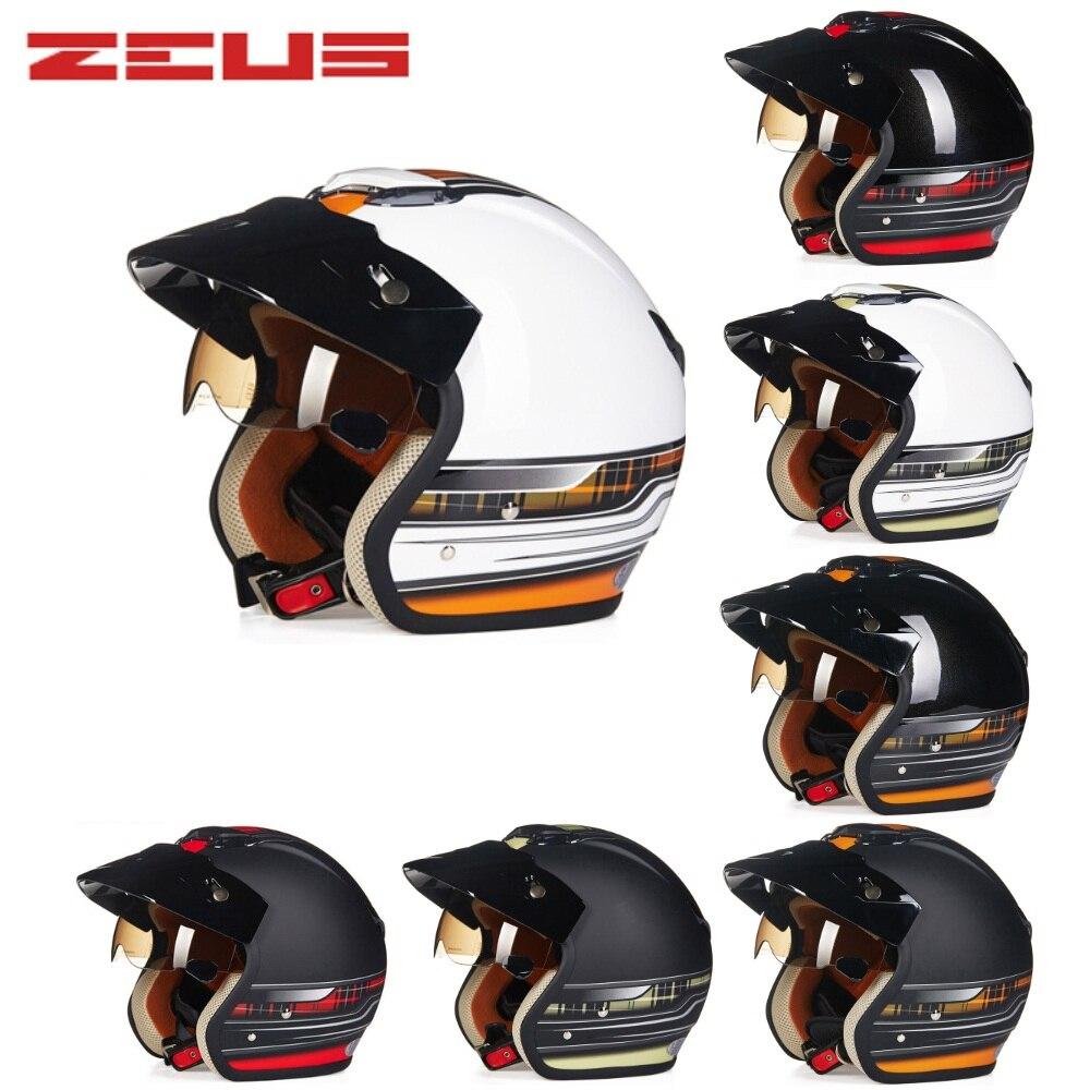 Il trasporto Libero 1 pz ABS 3/4 Viso Aperto Ece Approvato Vintage Retro capacete Moto Casco scooter Casco Del Motociclo Con Il Sole visiera