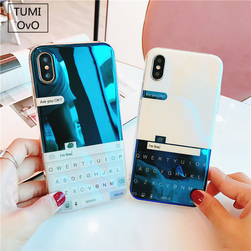 san francisco cc39a e27c3 US $3.03 |For iPhone X 10 Reflective Blue Light Animal Cartoon Frog  keyboard Soft TPU Case for iPhone 6 6s 7 8 Plus Fancy Back Cover-in Fitted  Cases ...