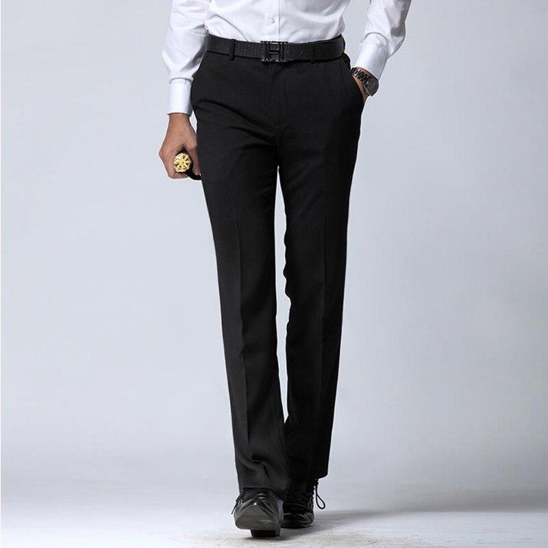 Manoble 망 드레스 바지 2016 브랜드 새로운 한국어 스타일 남자 정장 바지 블랙 비즈니스 남성 바지 남성 슬림 맞는 드레스 바지 8801