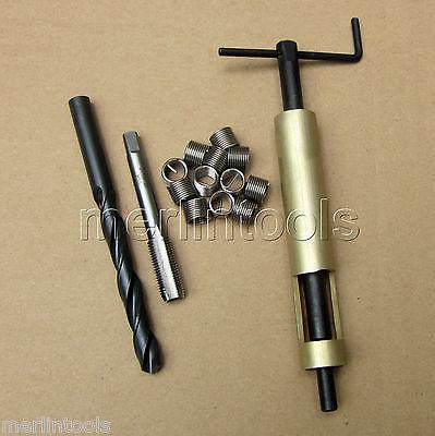 M16 x 2 Thread Repair Kit Tap and Drill bit coil Insert Insertion tool 25 pc thread repair kit m5 x 0 8 x 6 7mm auto car tool helical coil set n008187a