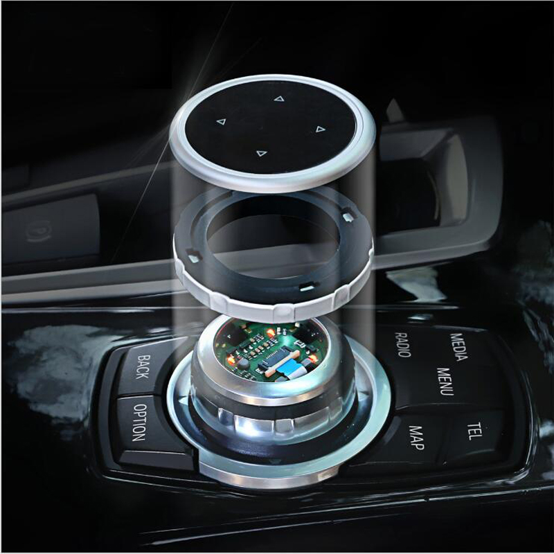 iDrive Car Multimedia Buttons Cover Stickers for <font><b>BMW</b></font> X1 X3 X5 X6 F30 E90 F32 F10 F20 <font><b>F01</b></font> F34 GT Z4 F15 F16 F25 E70 E71 <font><b>Accessory</b></font> image