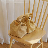 Bag for Women 2019 Brand Straw Bags for Ladies Beach Bag Personality Crossbody Lock Handbag Lady Vintage Knit Shoulder Bag