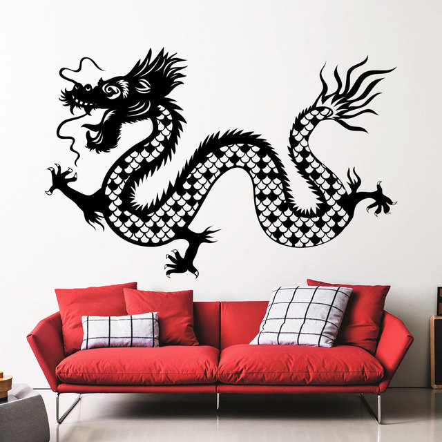 Chinese Traditional Gragon Whole Patterned Wall Decals Home Special Cool Decoration Vinyl Art Wall Stickers Fashion  sc 1 st  AliExpress.com & Chinese Traditional Gragon Whole Patterned Wall Decals Home Special ...