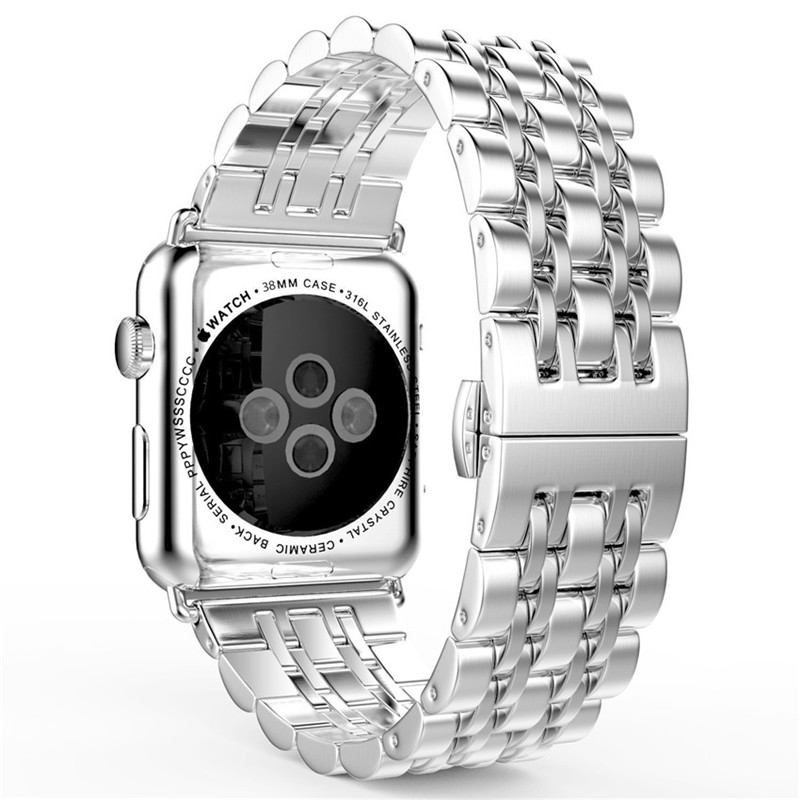 Fashion Stainless Steel Watch Bands For Apple Watch Band Metal Bracelet Replacement Strap For iWatch Series 1 2 Sports & Edition fashion metal stainless steel mesh watch strap for apple watch iwatch wristwatch strap black silver 38mm 42mm replacement