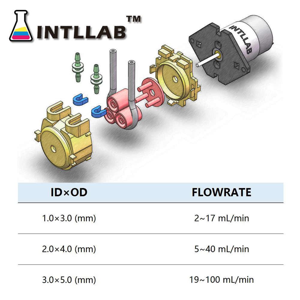 Intllab 12V DC DIY Peristaltik Pompa Cair Pompa Peristaltic Pump untuk Aquarium Lab Analytical