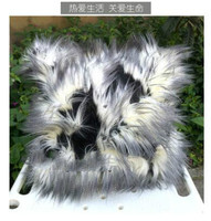 Long faux Fur Pillowcase Cushion Cover imitation animal fur pillow cover sofa home decor