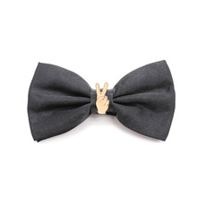 2018 Fashion Solid Color Matte Mens Bow Tie Lightning Note gesture V  Women For Kids Wedding Dress Accessories gift