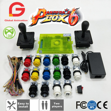 цена на 2 Player DIY Arcade Kit Pandora Box 6 1300 In 1 Home Game Board And American Joystick HAPP Style Push Button For Arcade Machine