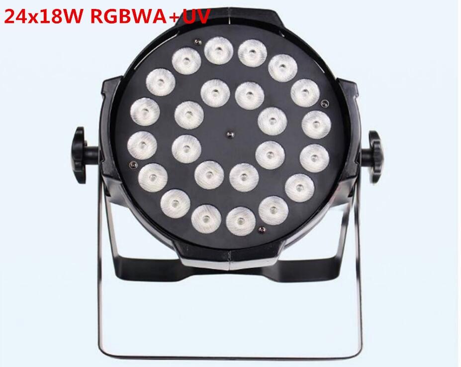 24x18W LED Par Lights lamp rgbwa uv 6in1 led par light