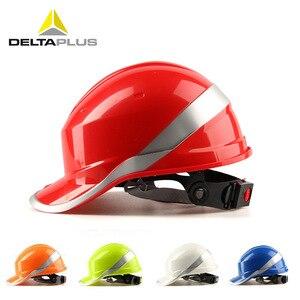 Image 1 - Sicherheit Helm Arbeit Kappe ABS Isolierung Material Mit Reflektierende Streifen Hard Hut Baustelle Isolierende Schutzhelme