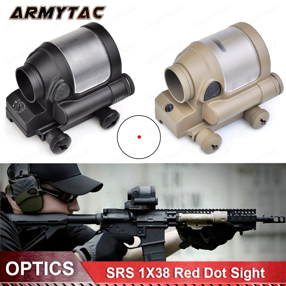 Red Dot Tactical Hunting Sight Scope SRS Reflex 1x38 Iron Optics Riflescope For Airgun aim o red dot tactical hunting sight scope srs reflex 1x38 iron optics riflescope for airgun ao3040